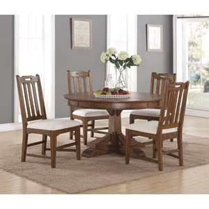 Flexsteel Wynwood Collection Sonora Round Dining Table and Chair Set