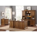 Flexsteel Wynwood Collection Sonora Mission Hutch with Lighting