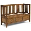 Flexsteel Wynwood Collection Sonora Storage Bench - Item Number: W1434-021S