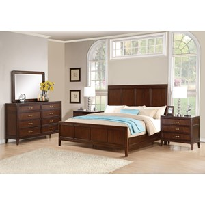 Flexsteel Wynwood Collection Sterling Transitional Queen Bedroom Group