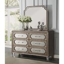 Flexsteel Wynwood Collection Vogue Dresser with Mirror - Item Number: W1063-860+881