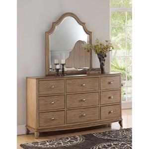 Flexsteel Wynwood Collection Miramar Dresser and Mirror