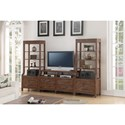 Flexsteel Wynwood Collection Hampton Occasional Group  Wall Unit - Item Number: W1448-031+2x069