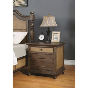 Traditional Nightstand with Outlets and USB Ports