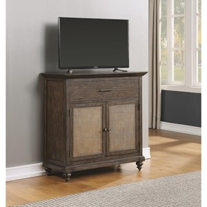 Traditional Media Chest with Drop-Front Drawer
