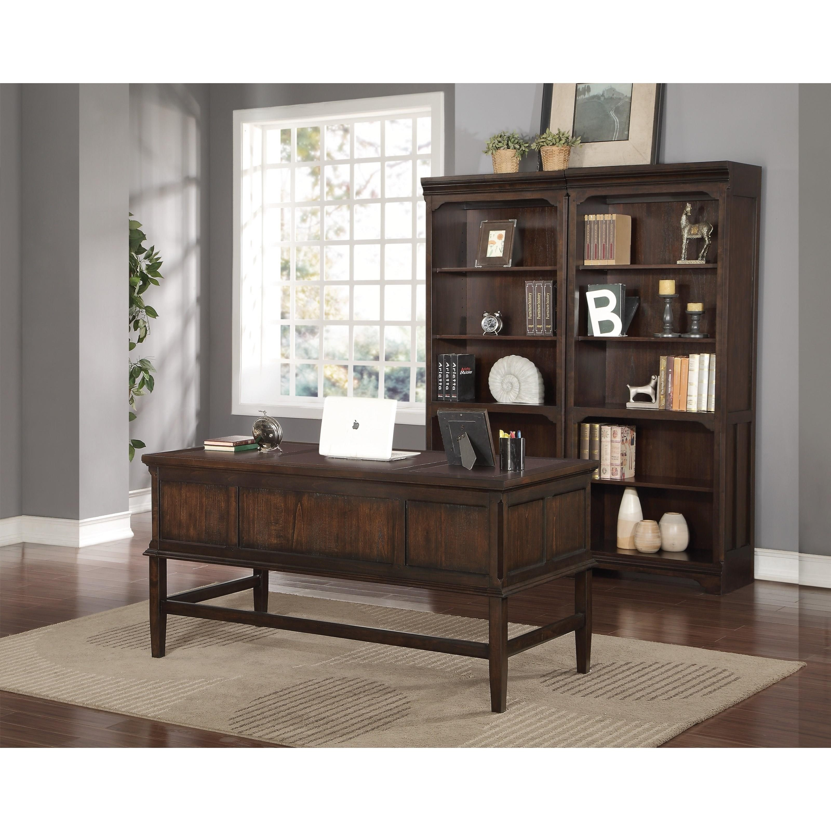 Flexsteel Wynwood Collection Walnut Creek Bunching Bookcase With 4 Shelves Olinde 39 S Furniture