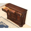 Flexsteel Wynwood Collection Westchester Traditional Door Chest with 8 Drawers