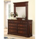 Flexsteel Wynwood Collection Westchester Traditional Dresser Mirror