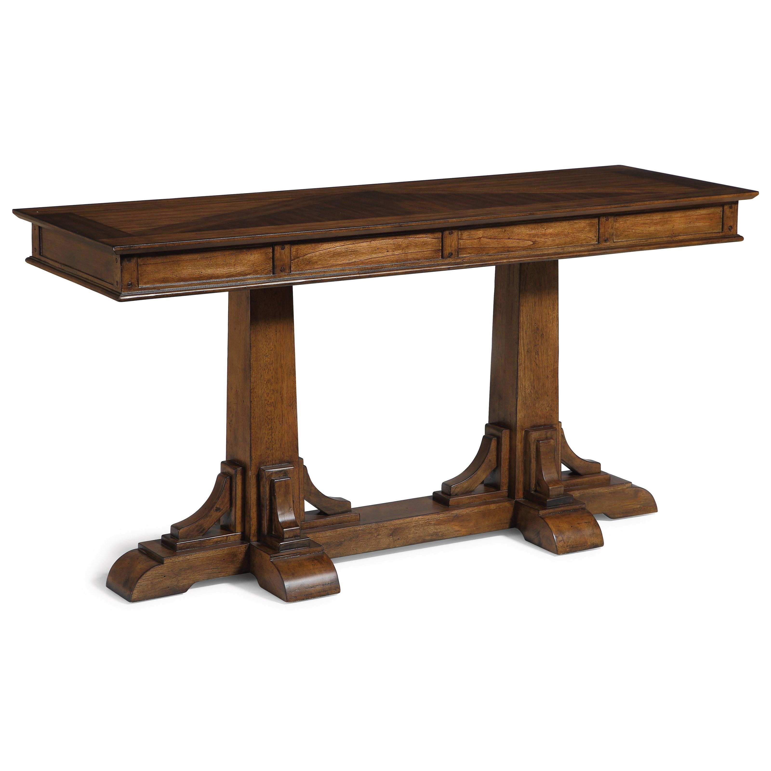 Flexsteel Wynwood Collection Windsor Mission Sofa Table Item Number W1434 04