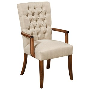 Customizable Solid Wood Arm Chair