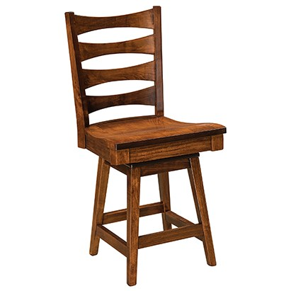 "Customizable Solid Wood 30"" Swivel Bar Stool"