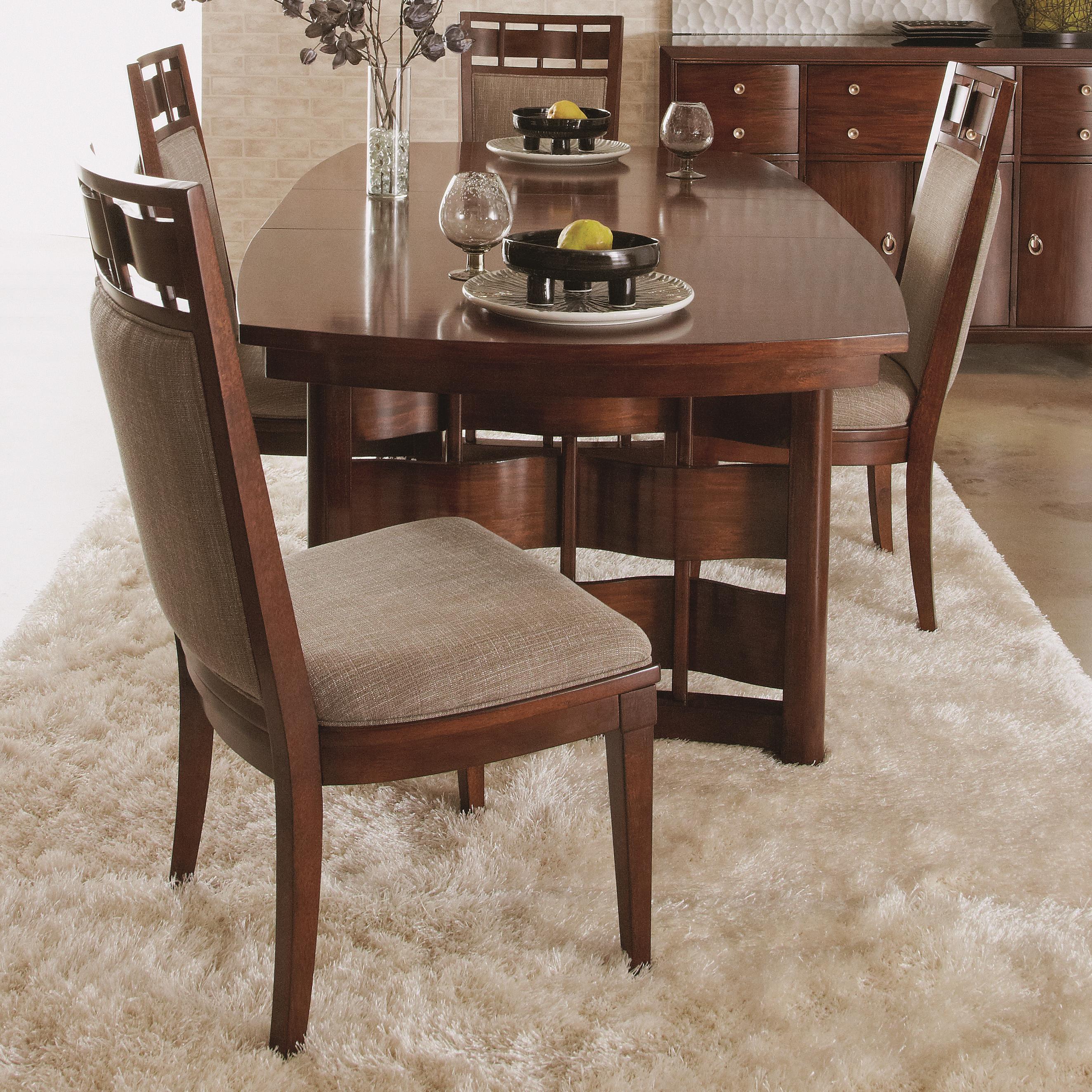 Morris Home Furnishings Augusta Augusta 5 Piece Dining Set - Item Number: 697-406+4x434
