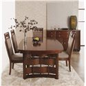 Morris Home Furnishings Augusta Dining Side Chair with Weaved Wood Detail on Top and Upholstered Seat and Back