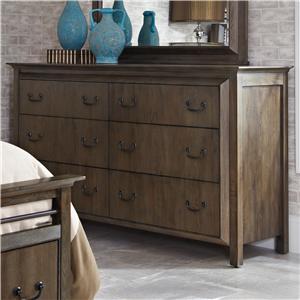 Morris Home Furnishings Edinburg Edinburg 6 Drawer Dresser