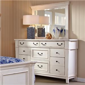 Folio 21 Astoria Ten Drawer Dresser w/ Mirror