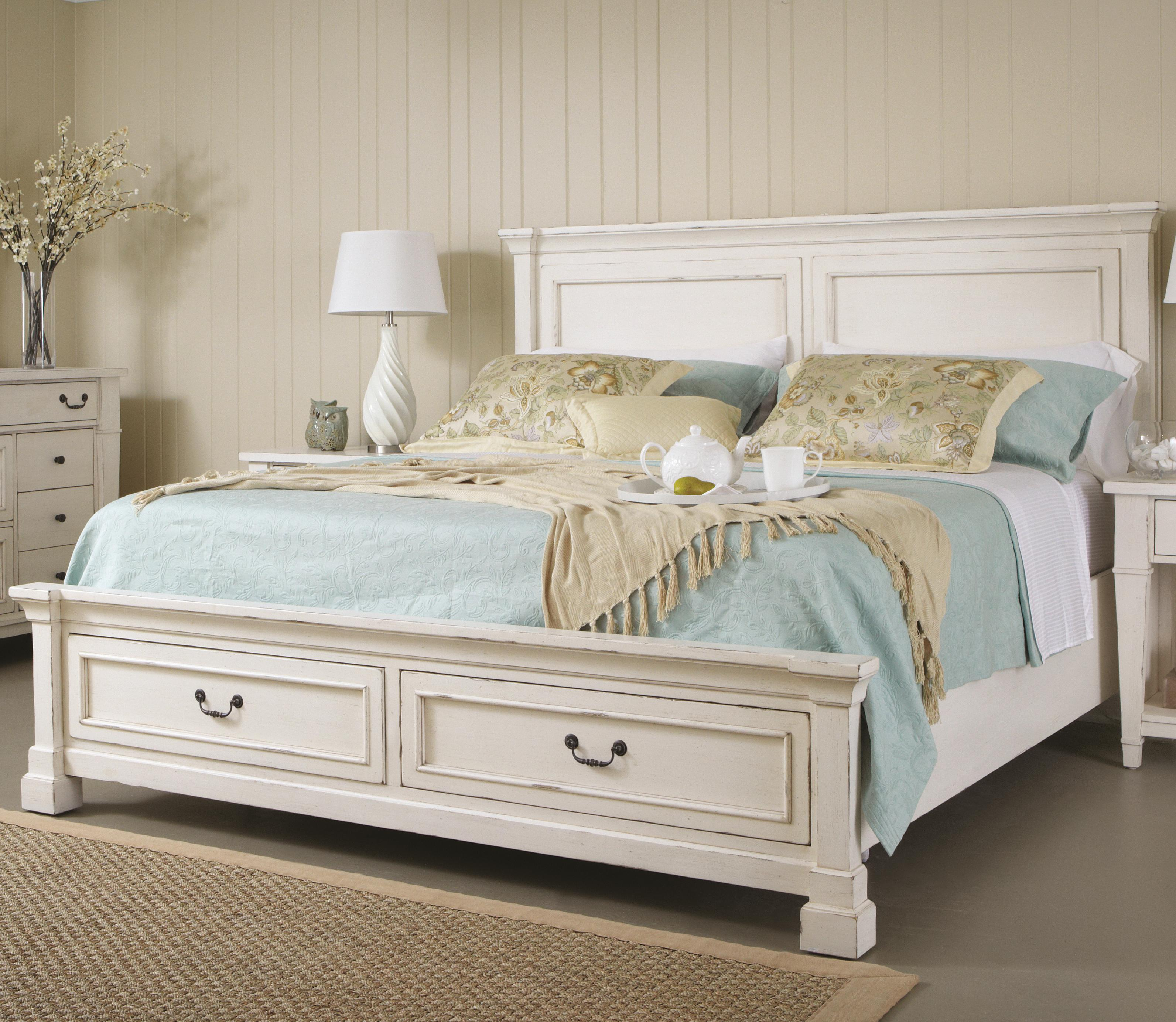 Folio 21 Stoney Creek Queen Panel Bed W Storage Footboard