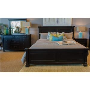 Folio 21 Ravenswood King Panel Bed, Dresser, Mirror & Nightstand