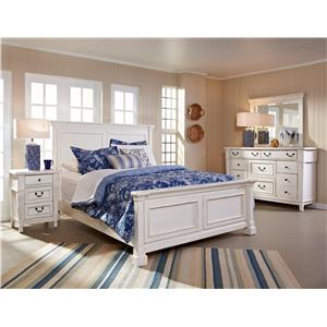 Folio 21 Stoney Creek Queen Panel Bed, Dresser, Mirror & Nightstan