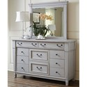 Folio 21 Stone Harbor 10 Drawer Dresser with Lift Out Jewelry Tray