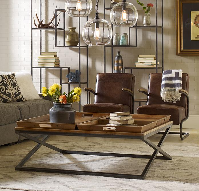 Four Hands Irondale Jax Coffee Table - Item Number: CIRD-55E1-E2