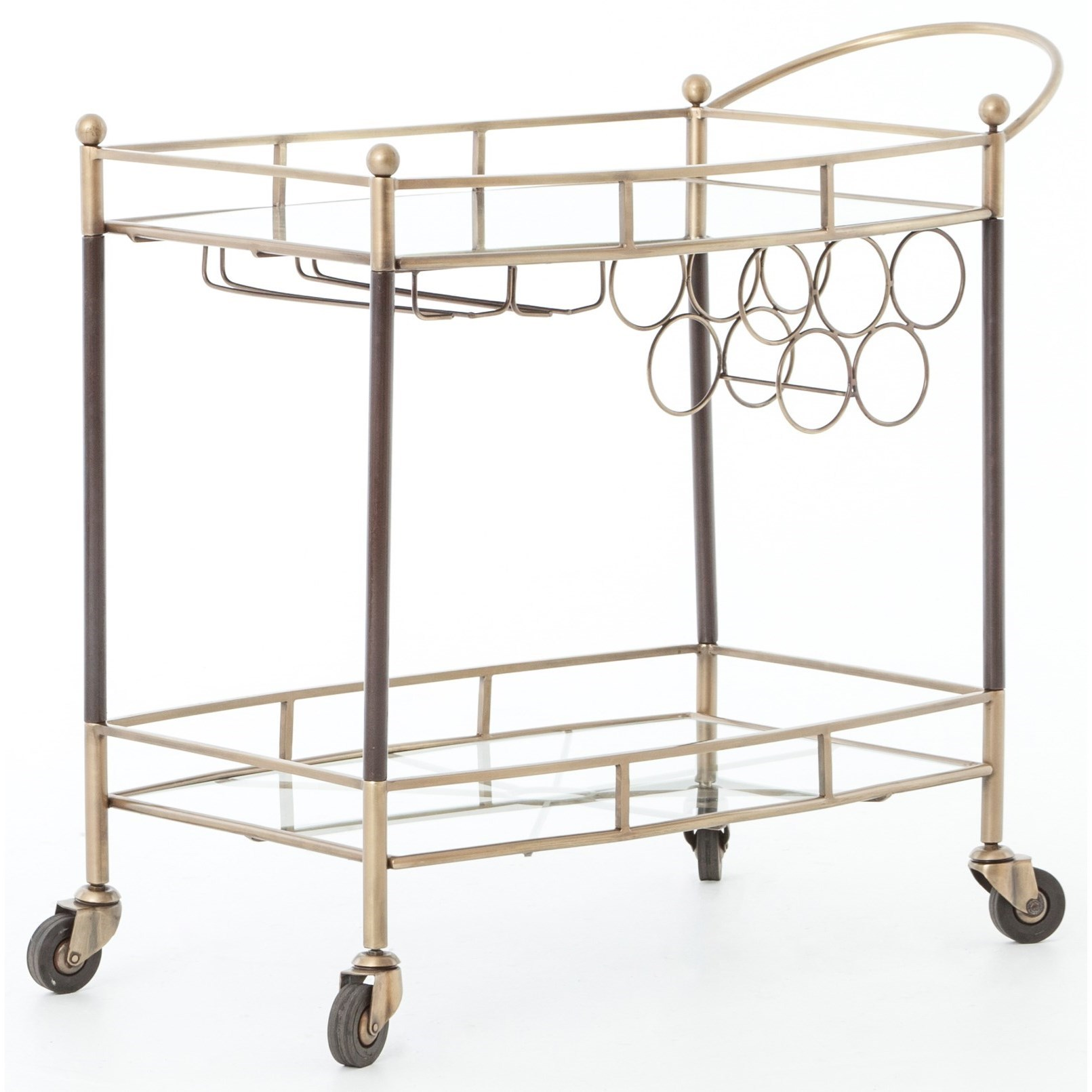 Four Hands Asher Coles Bar Cart - Item Number: IASR-004KD