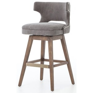 Four Hands Ashford Task Barstool with Swivel Base
