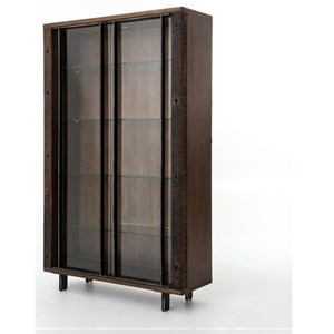 Four Hands Bina Geoff Bookcase with Glass Shelves