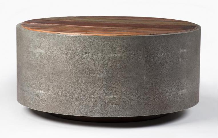 Four Hands Bina Round Coffee Table - Item Number: VBNA-CT998