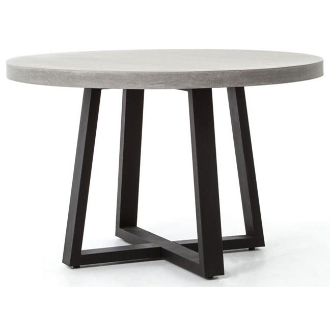 "Four Hands Constantine Cyrus 48"" Round Dining Table - Item Number: VCNS-F006A"