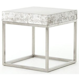 Four Hands Constantine Concrete And Chrome End Table