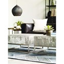 Four Hands Constantine Concrete And Chrome Coffee Table
