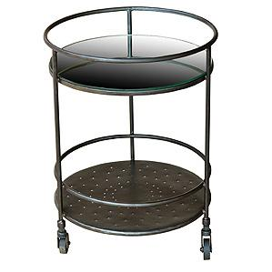 Four Hands Element Round Mirror Side Table