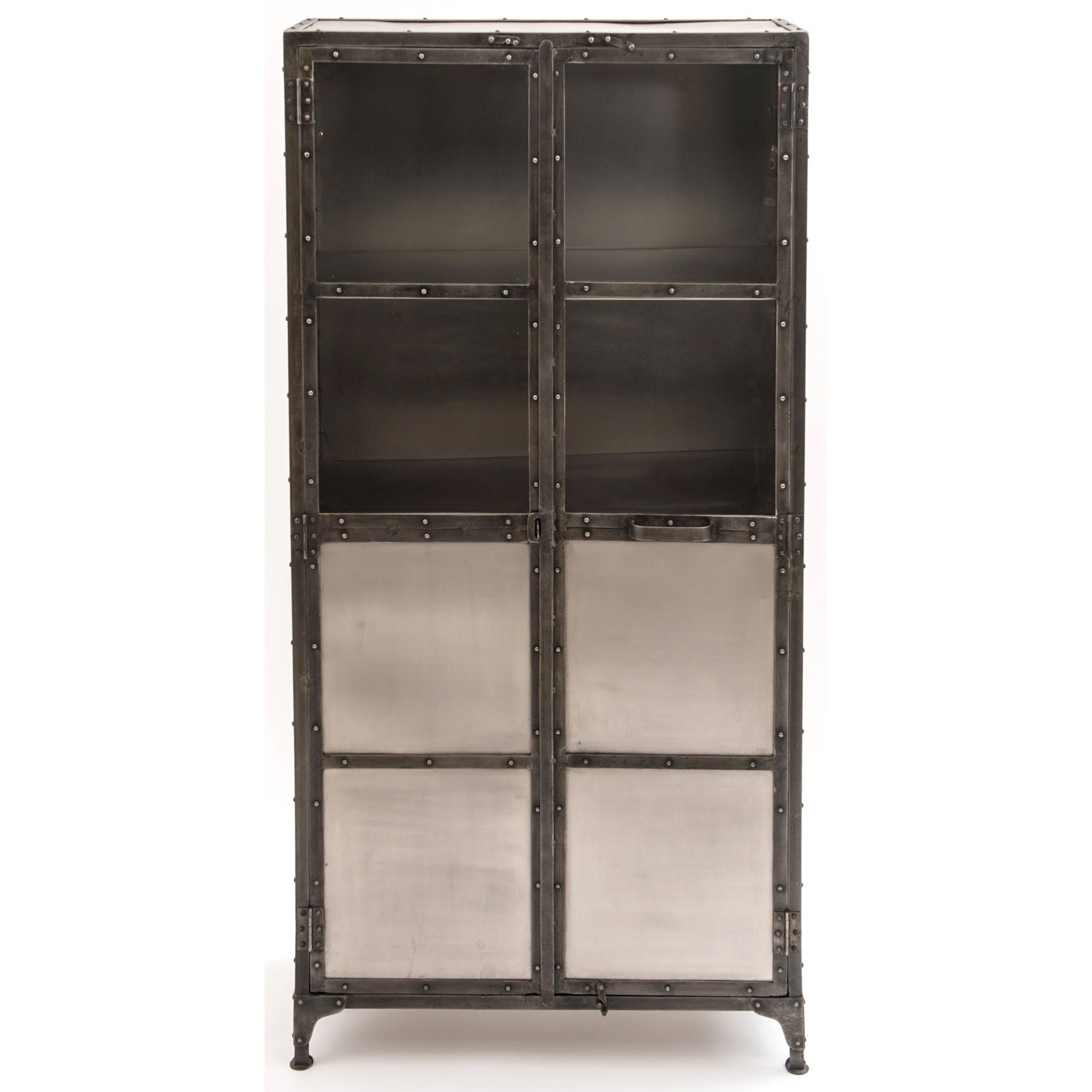 Four Hands Element Mixed Metal Cabinet - Item Number: IELE-CAB-NKLANT