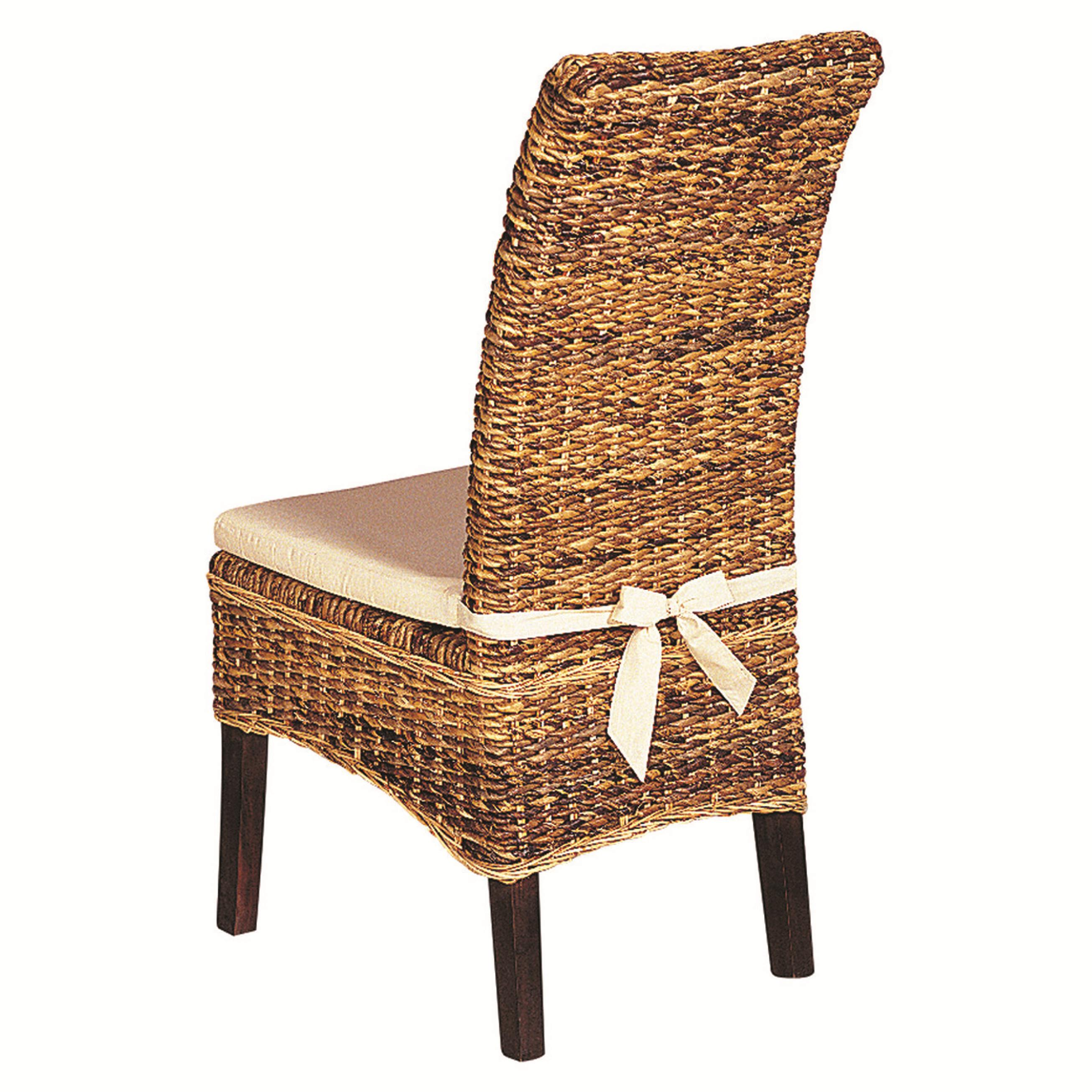 Four Hands Grass Roots Banana Leaf Chair with Cushion - Item Number: JCHR-B1