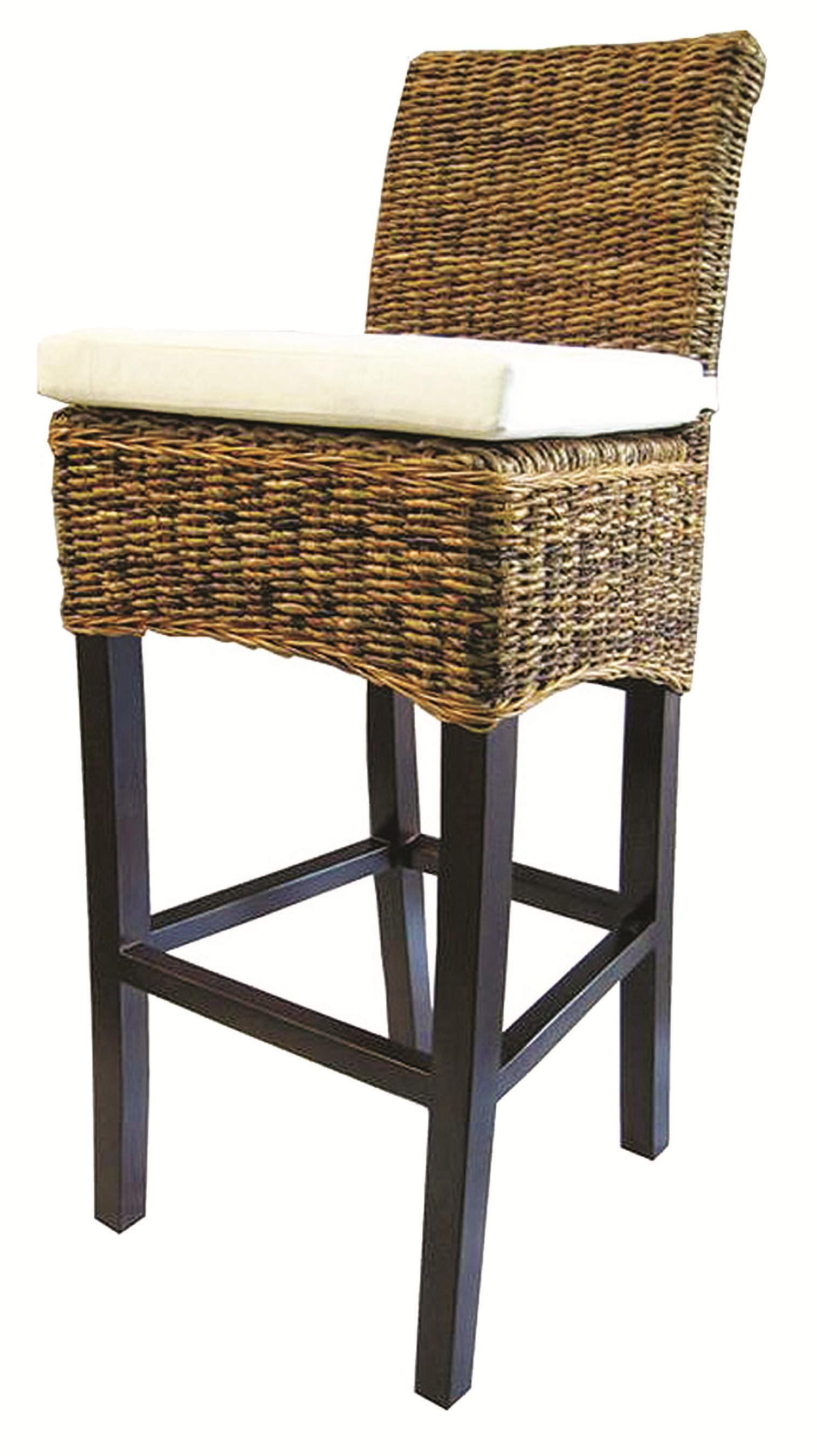 Four Hands Grass Roots Banana Leaf Barstool - Item Number JCHR-B1BS  sc 1 st  Belfort Furniture & Four Hands Grass Roots Woven Banana Leaf Barstool w/ Canvas ... islam-shia.org