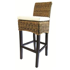Four Hands Grass Roots Banana Leaf Barstool