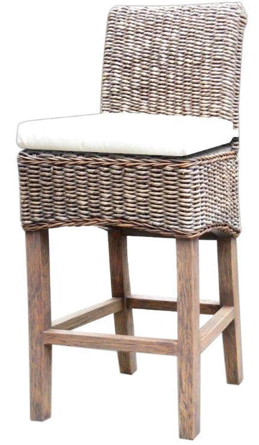 Four Hands Grass Roots Banana Leaf Counter Stool - Item Number: JCHR-B1CSG