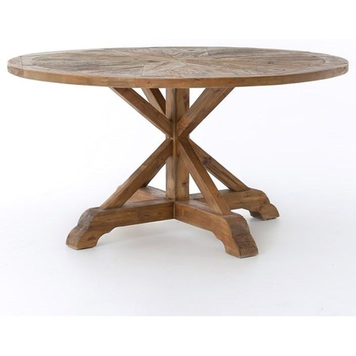 Four Hands Durham Opio Round Dining Table  - Item Number: CIMP-J3-BP