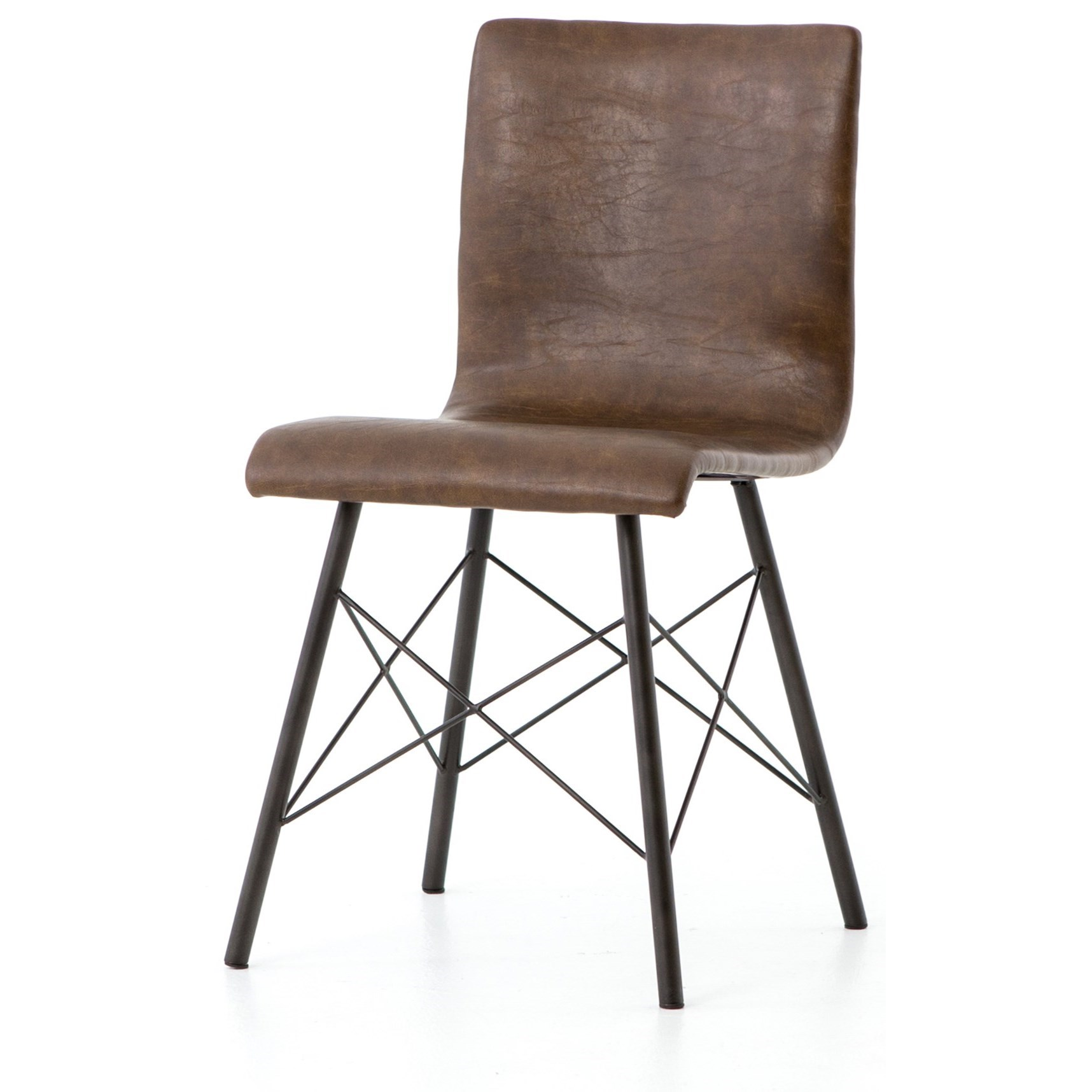 Four Hands Irondale Diaw Dining Chair With Leather Upholstery Belfort Furniture Dining Side