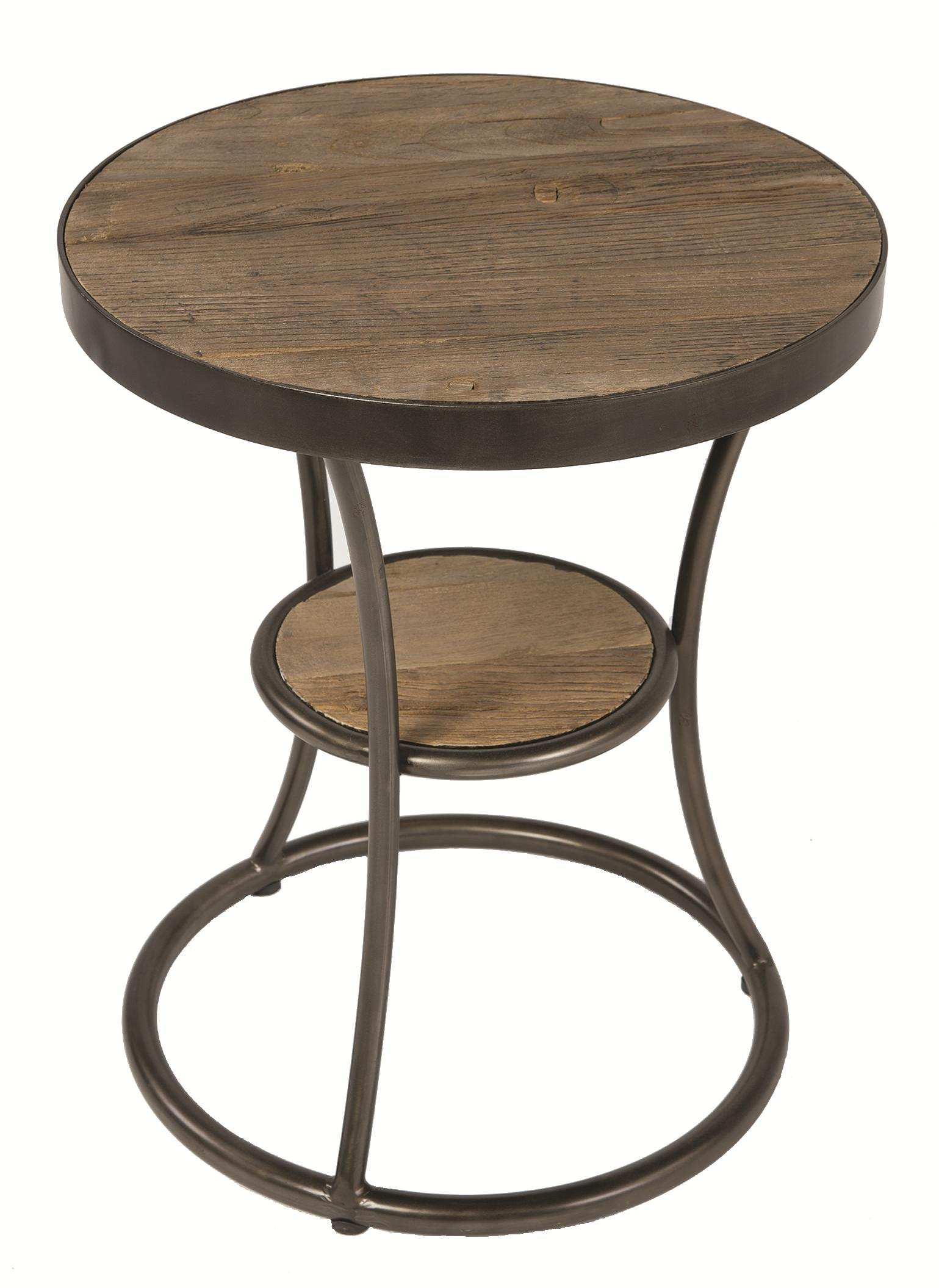 four hands irondale weathered channing round side table olin