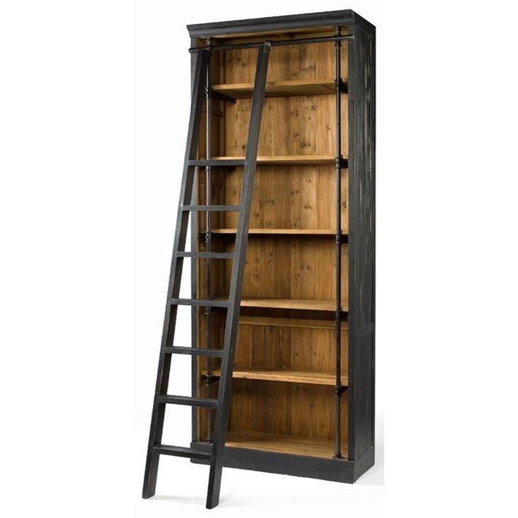Four Hands Irondale Ivy Bookcase and Ladder - Item Number: CIRD-85-H4E2