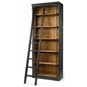 Four Hands Irondale Ivy Bookcase and Ladder
