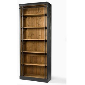 Ivy Matte Black Bookcase