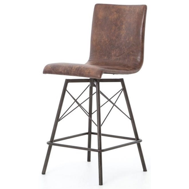 Four Hands Irondale Diaw Counter Height Stool - Item Number: CIRD-V8
