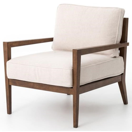 Four Hands Kensington Wood Frame Accent Chair - Item Number: CKEN-B6X-017