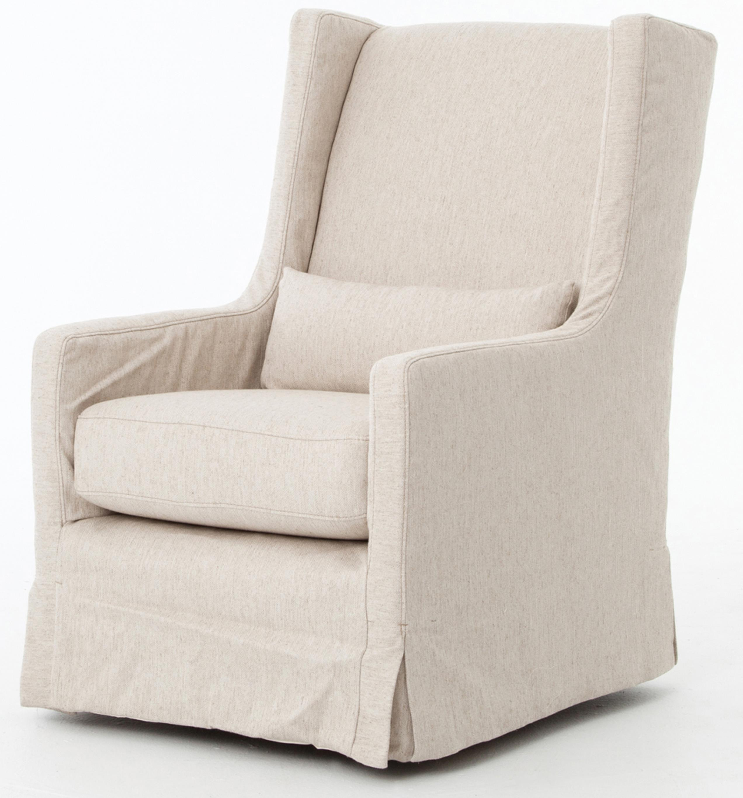 Four Hands Kensington Swivel Wing Chair With Skirt Story