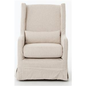 Four Hands Kensington Swivel Wing Chair