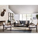 Four Hands Kensington Fitz Chair with Dorell Gaucho Chalk Upholstery