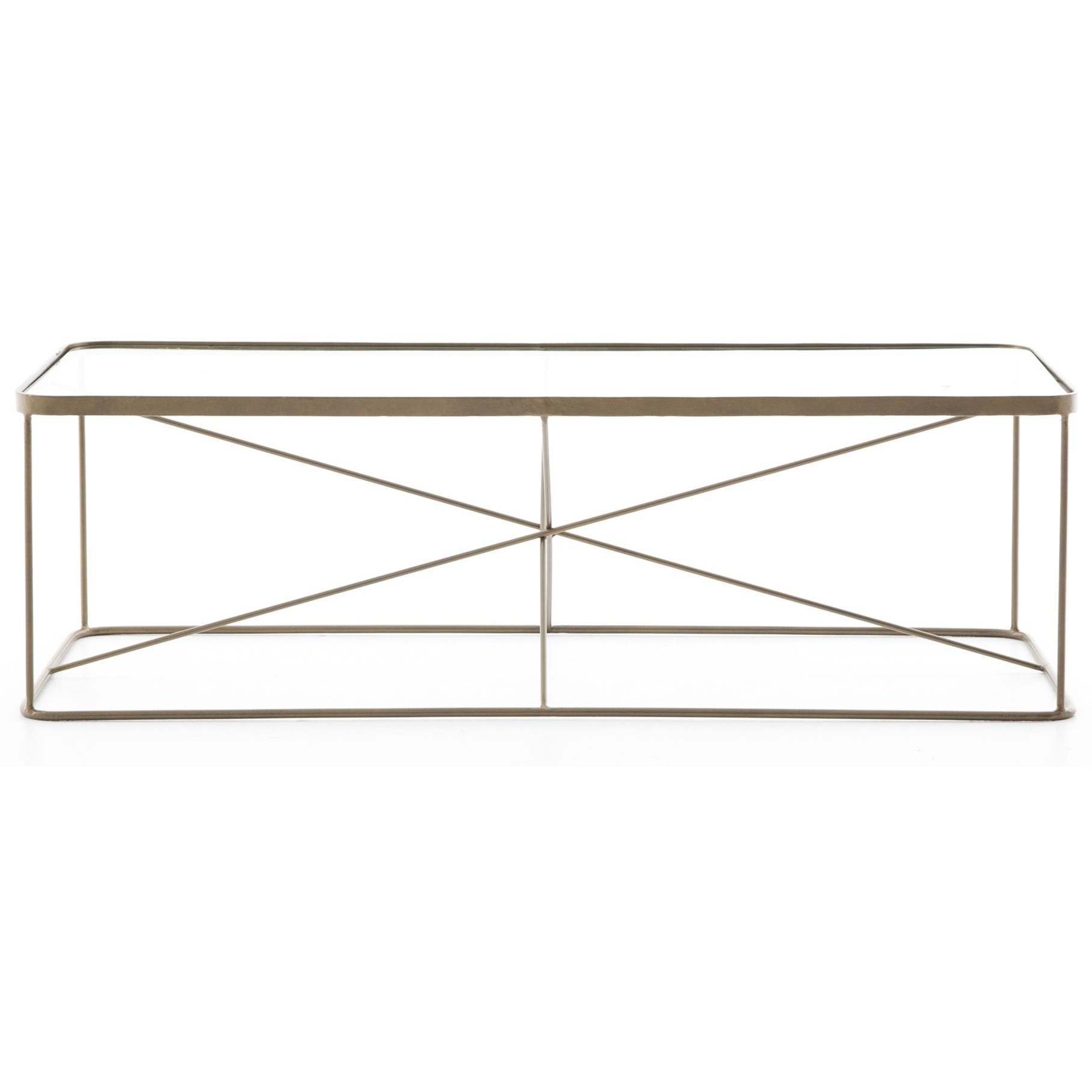 Four Hands Marlow Lucas Coffee Table - Item Number: IMAR-108-BRS