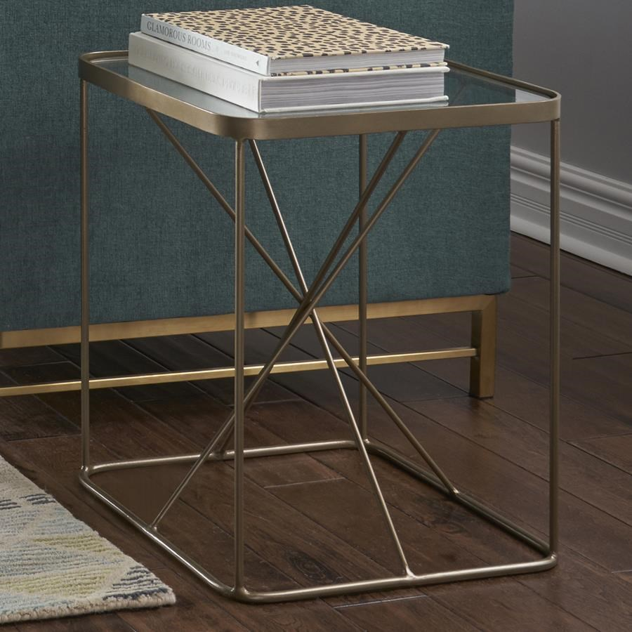 Four Hands Marlow Lucas End Table - Item Number: IMAR-110-BRS